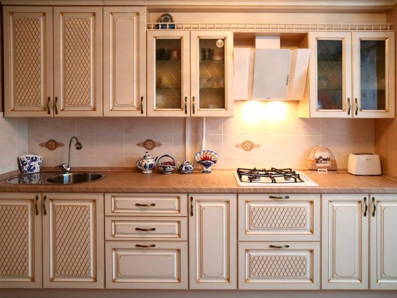 Кухня из пластика Лина Голд