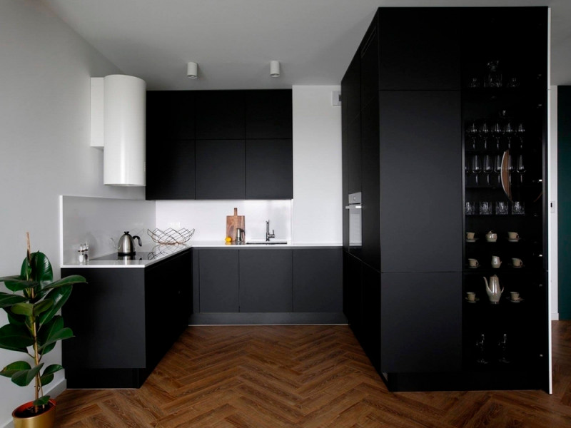 Кухня из пластика Феникс Антрацит