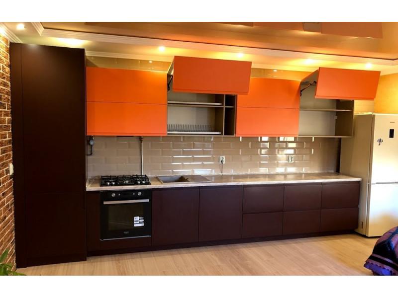 Кухня МДФ в эмали Оранж