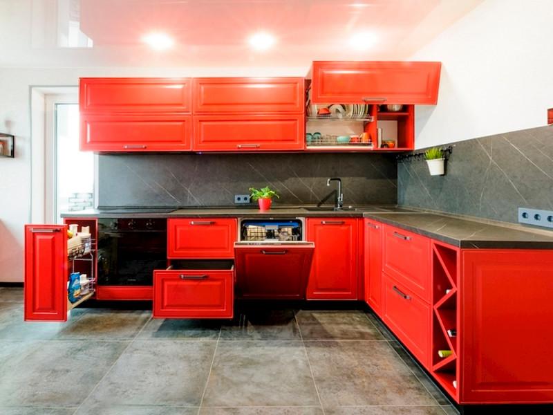 Кухня МДФ в эмали Танго