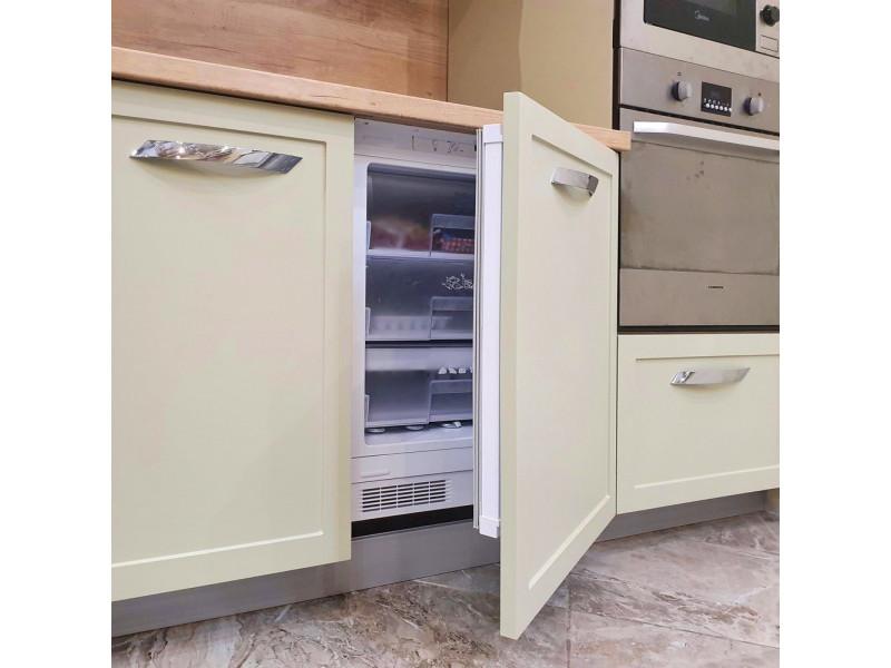 Дарина — угловая кухня бежевого цвета из МДФ в эмали