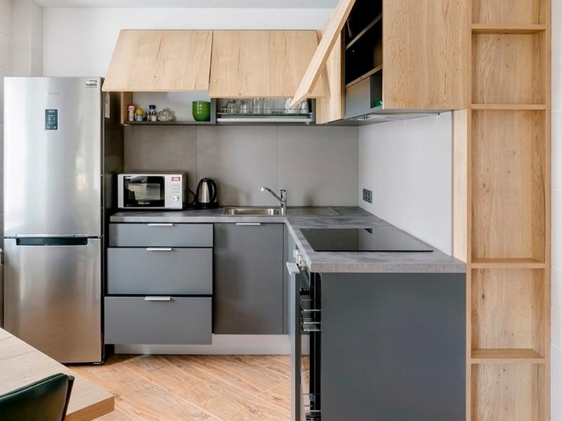Кухня из пластика Феникс Грей