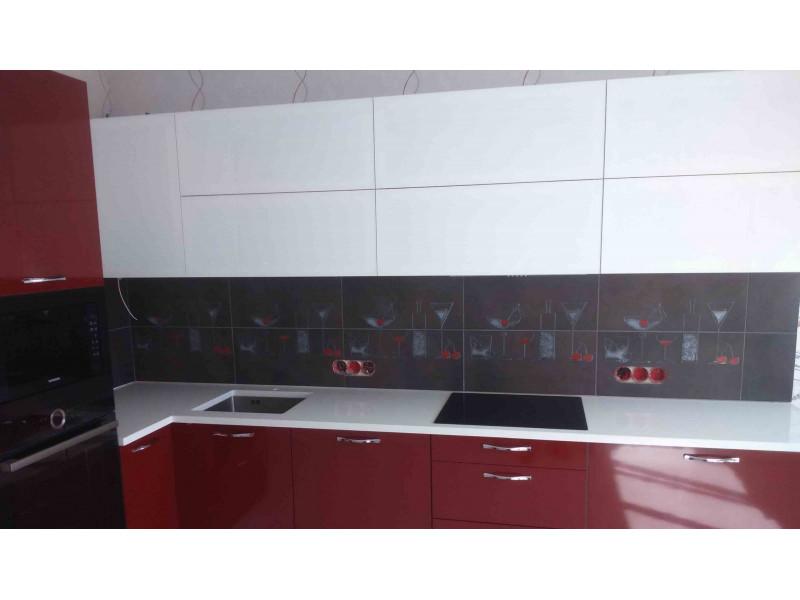 Кухня из пластика ПЛ-006