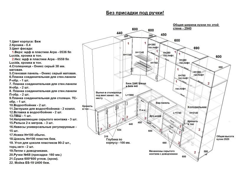 Кухня из пластика ПЛ-041