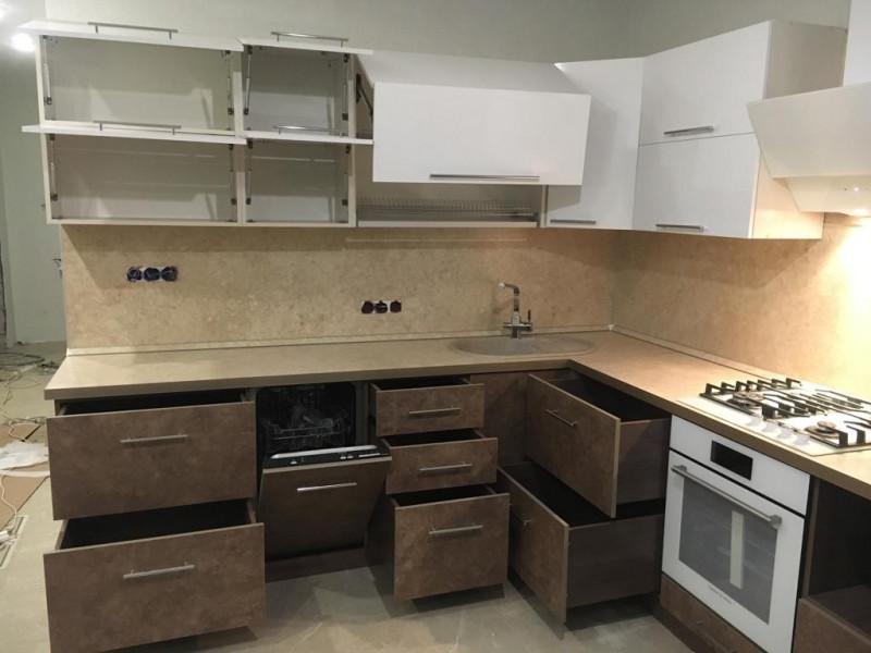 Кухня из пластика ПЛ-007