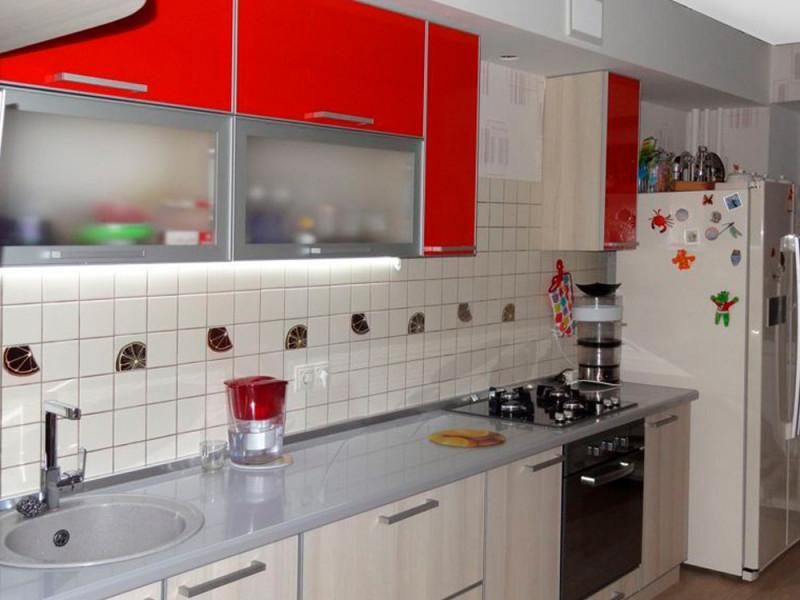 Кухня из пластика ПЛ-020
