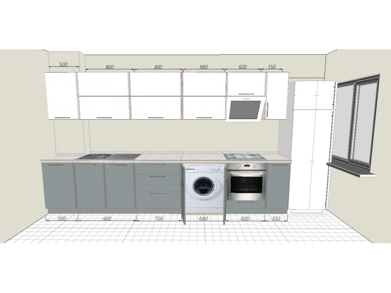 Кухня ПВХ-071