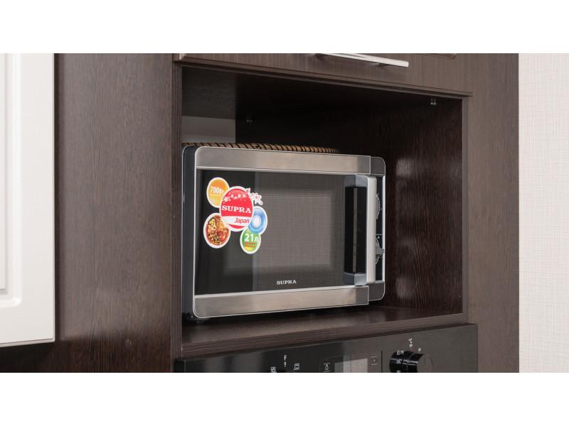 Джулия — двухцветная, угловая кухня из МДФ в пленке ПВХ